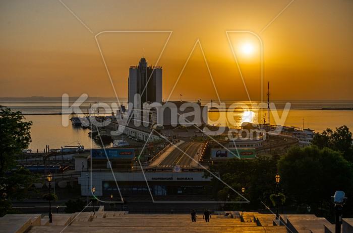 Summer Dawn on Primorsky Boulevard in Odessa, Ukraine Photo #62239