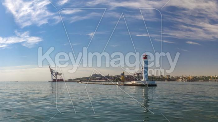 Vorontsov Lighthouse in the Port of Odessa, Ukraine Photo #59194