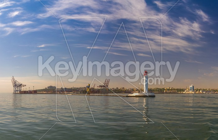 Vorontsov Lighthouse in the Port of Odessa, Ukraine Photo #59196