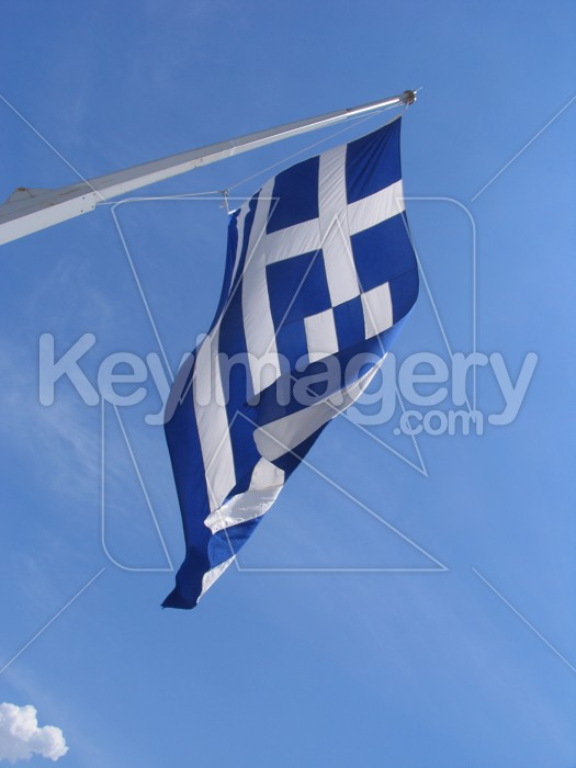Blue flag in the blue sky Photo #6313