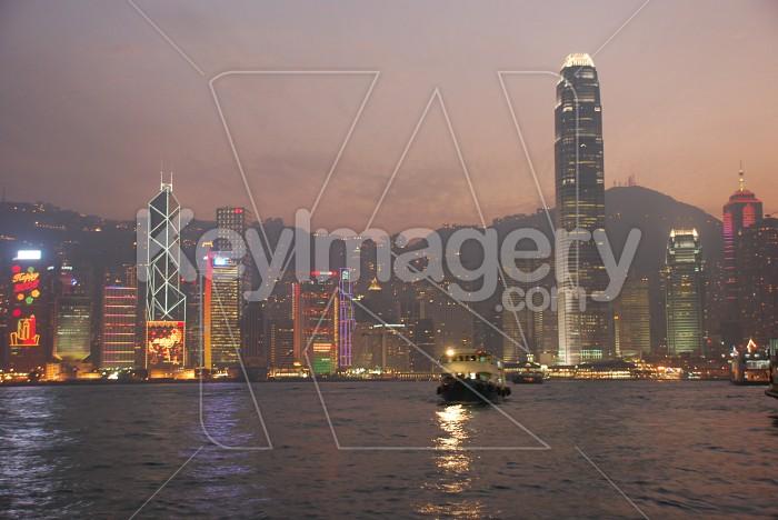 Hong Kong Island at Night Photo #7504