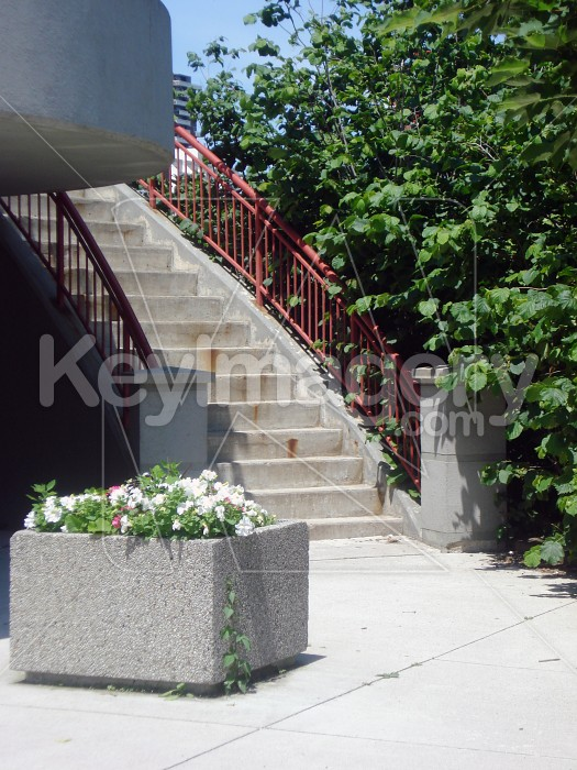 Red staircase angle Photo #12746