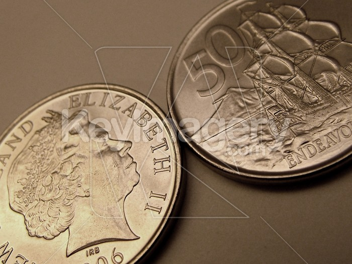 50 cents NZ coin Photo #2212