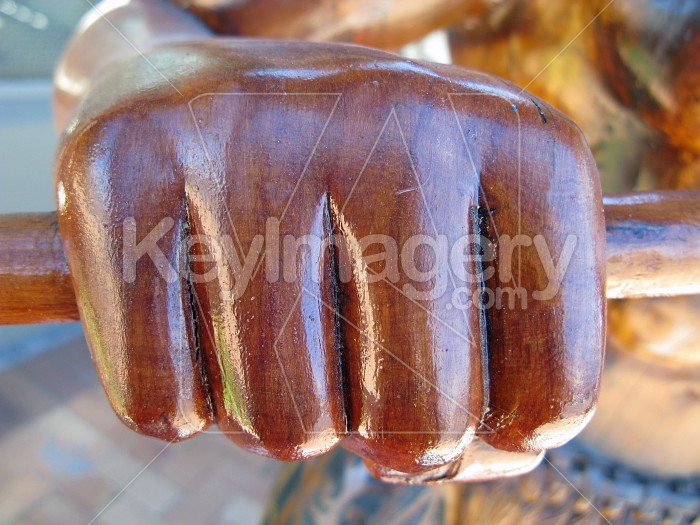 A carved warriors fist Photo #7941