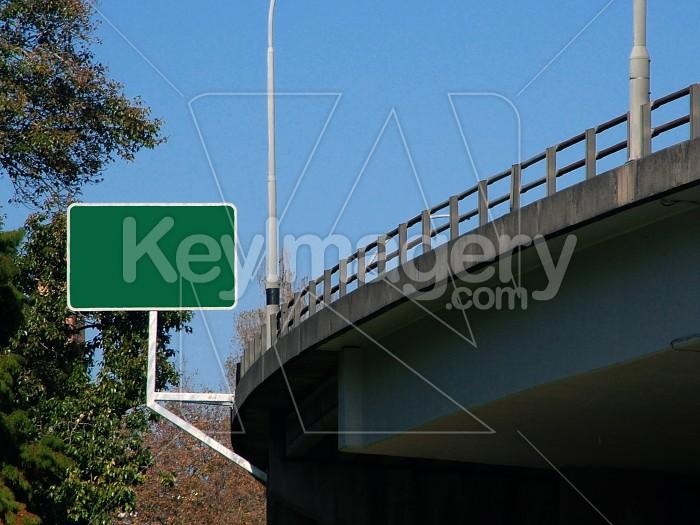 blank motorway sign Photo #4446