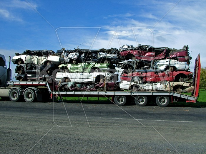 cars stacked on a truck Photo #1687