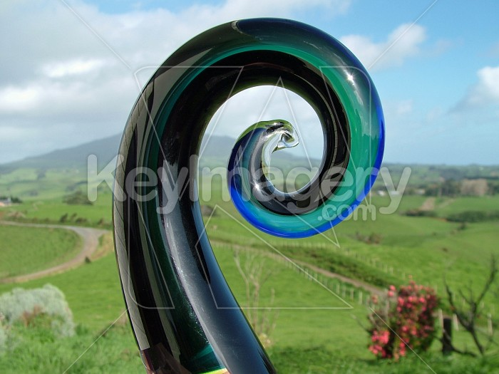 Glass Koru Photo #4912