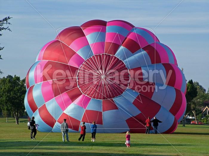 hot air balloon halfway up Photo #995