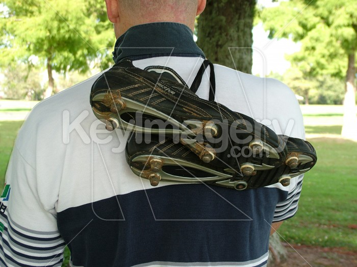 rugby boots on white shirt Photo #1693