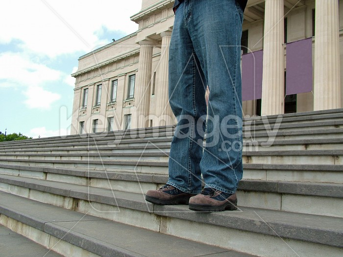 standing on the steps Photo #4624