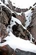 Snow on rocks