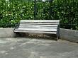 A corner garden seat