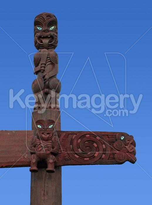 top of maori carving Photo #1523