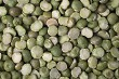 A background of split dry green peas.