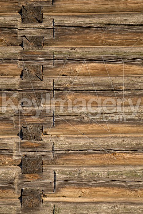 Wood logs texture of an old house. Photo #57886