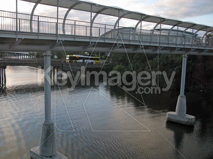 A pedestrian walkway across the river Photo #12427
