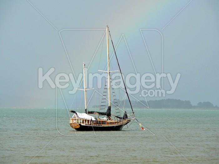 Boat and rainbow Photo #4007