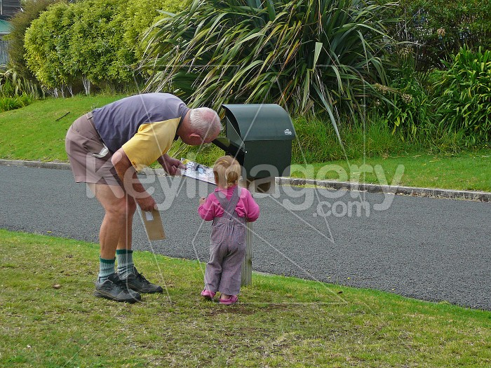 checking the mail with Grandad Photo #686