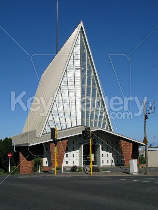 Church with high pitched roof Photo #6576
