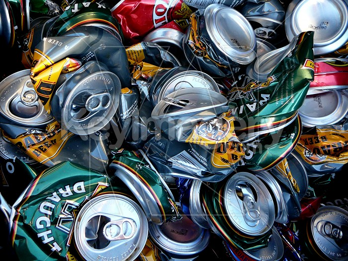 Crushed cans Photo #1357