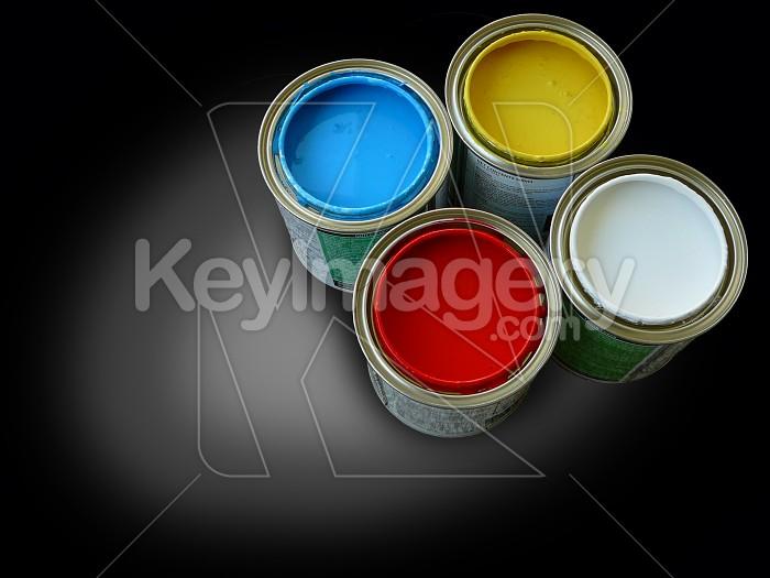 Four paint tins Photo #1082
