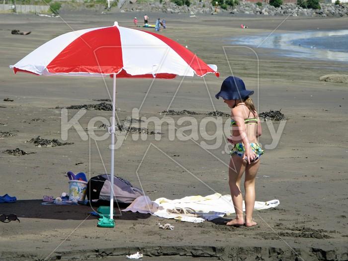 Girl on the beach Photo #6517