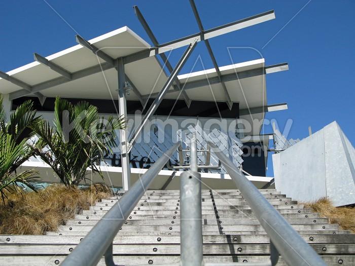 Looking up the rails to Puke Ariki Photo #7670