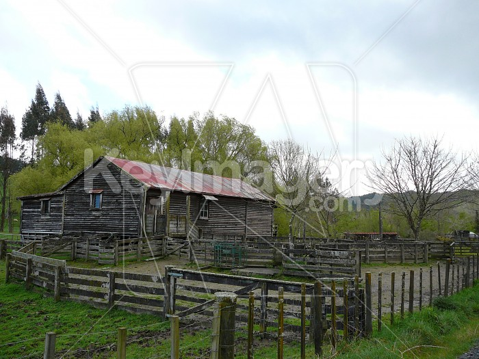 Old black woolshed Photo #4724
