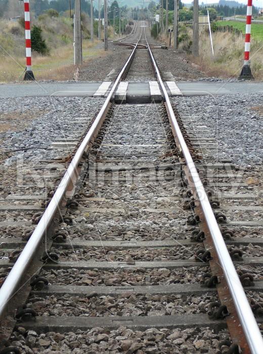 Rail  tracks plus crossing Photo #2259