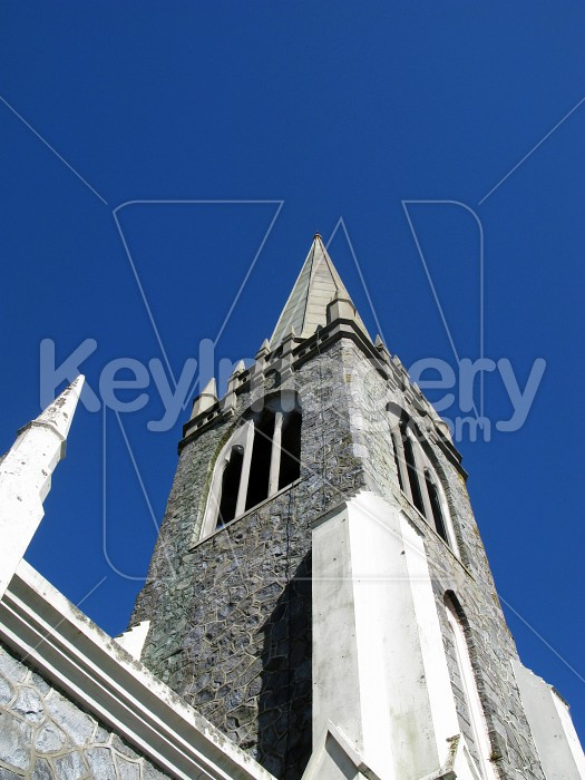 Special view of church turret & steeple Photo #6570
