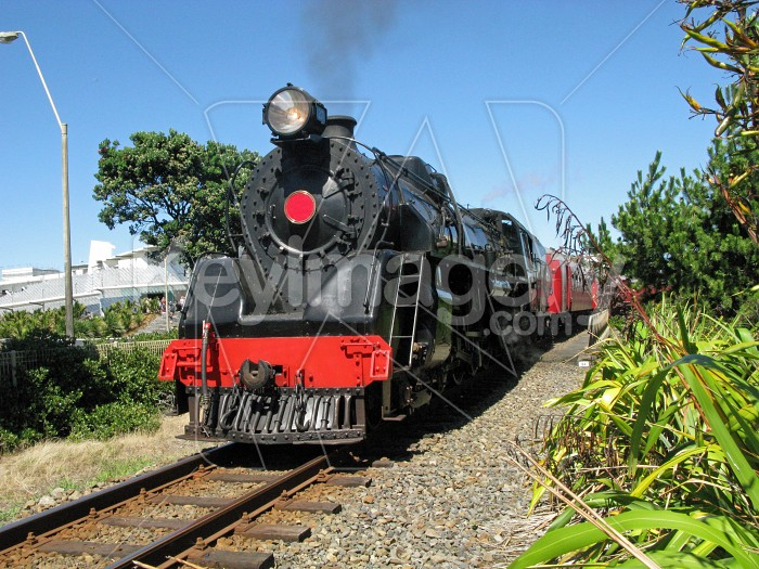 Steam train leaving station Photo #6963