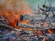 Firery burnoff