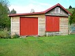 Shed red doors
