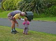 checking the mail with Grandad
