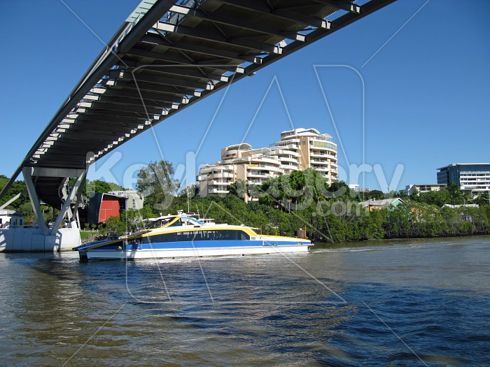 The City Cat river boat going under the Goodwill Bridge Photo #12631