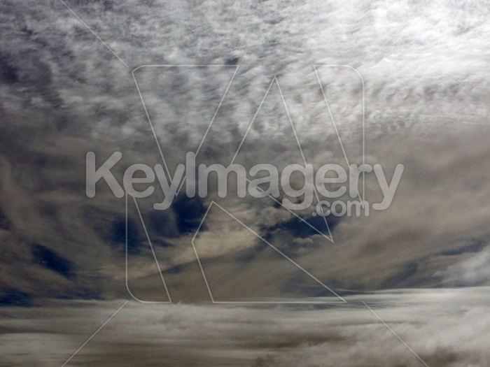 Wind buffetted clouds Photo #1673