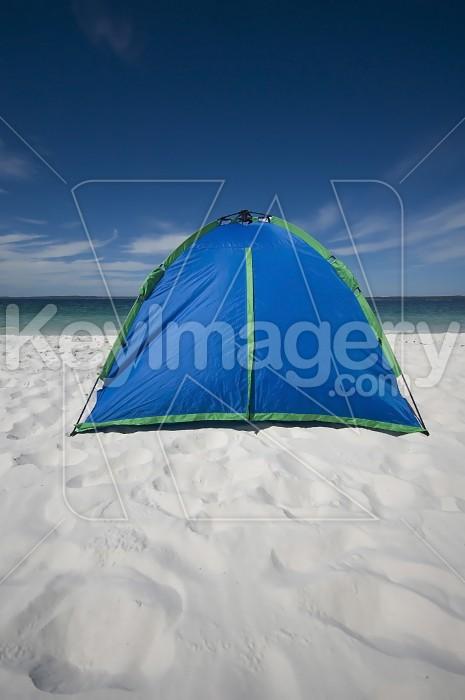 The Blue Beach Tent Photo #1953