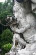 Fighting monkey statue